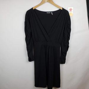 Apt. 9 Womens Faux Wrap Dress Long Sleeve V-Neck